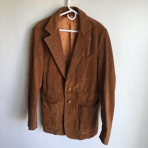 Ruddock Leathers Jacket Rust Suede Bound Buttons